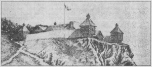 Sketch of an early Fort Edwards - Warsaw Illinois Park District